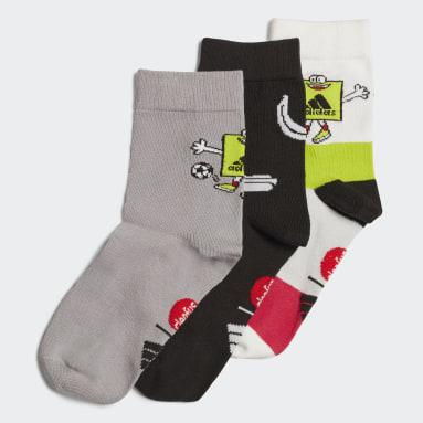 Kids Training Pink Cleofus Graphic Crew Socks 3 Pairs