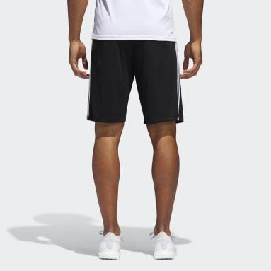Shorts D2M 3 Franjas Negro Hombre Training