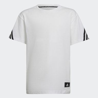 Camiseta Future Icons 3 bandas Blanco Niño Sportswear