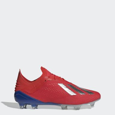 Calzado de Fútbol X 18.1 Terreno Firme Rojo Hombre Fútbol