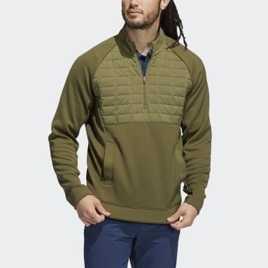 Herr Golf Grön Quarter-Zip Pullover