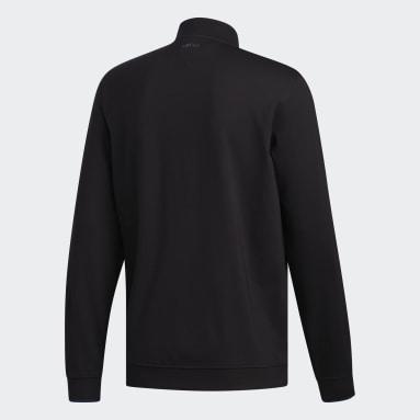 Men Golf Black Adipure Modern Tech 1/4 Zip Shirt