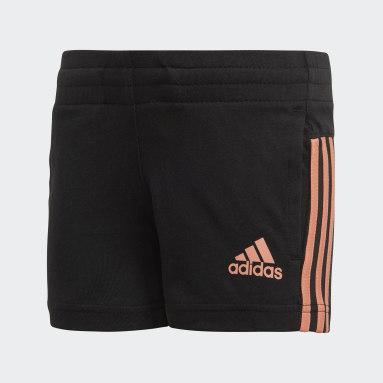 Pantalón corto Little Girls Knitted Negro Niña Sportswear
