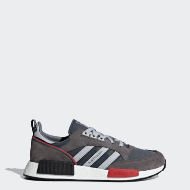 Men Originals Grey Boston SuperxR1 Shoes
