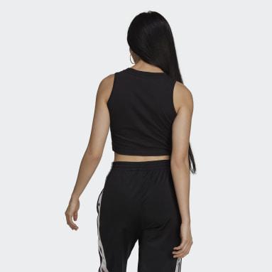 Women Originals Black Adicolor Classics Cropped Tank Top