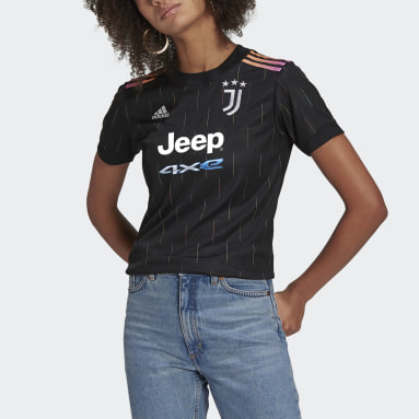 Dames Voetbal Zwart Juventus 21/22 Uitshirt