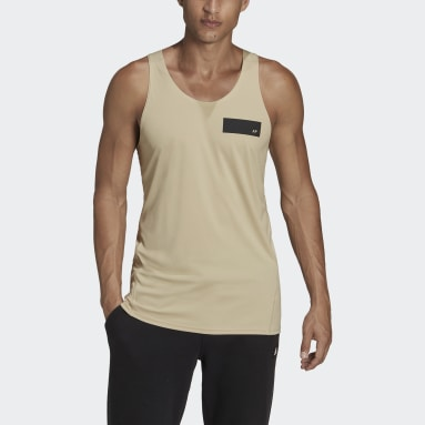 Mænd Sportswear Beige Parley Mission Kit Run for the Oceans tanktop