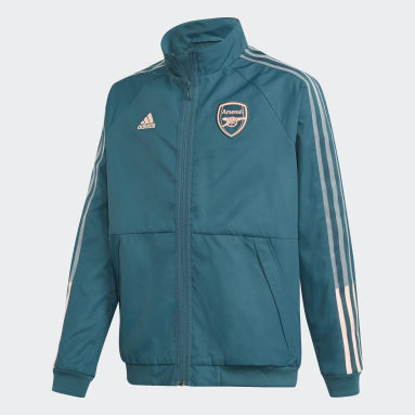 Kids Football Green Arsenal Anthem Jacket