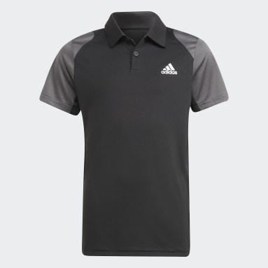 Jungen Tennis Club Tennis Poloshirt Schwarz