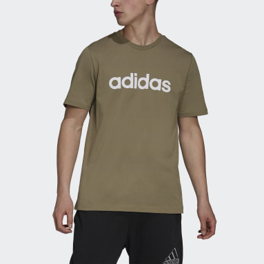 Men Sportswear Green Essentials Embroidered Linear Logo Tee