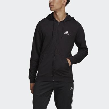 Men's Essentials Black Essentials French Terry Big Logo Track Jacket