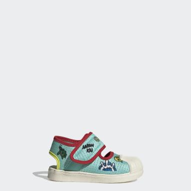 Infants Originals Green Superstar 360 Primeblue Sandals