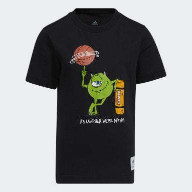 Kids Basketball Black Little Kids Laugh Canister T-Shirt
