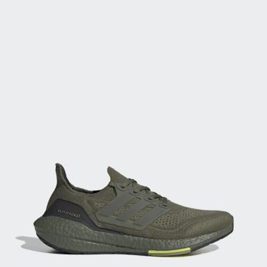 Men Running Green Ultraboost 21 Shoes