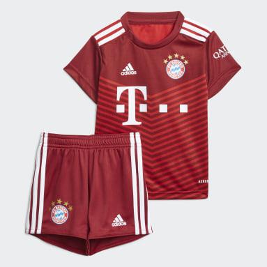 Divisa Baby Home 21/22 FC Bayern München Rosso Bambini Calcio