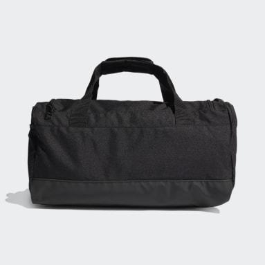 Yoga Black Essentials 3-Stripes Duffel Bag Small