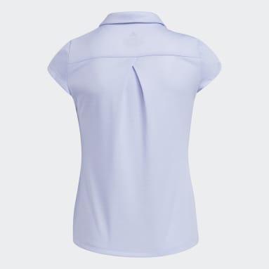 Girls Golf Purple Heathered AEROREADY Polo Shirt