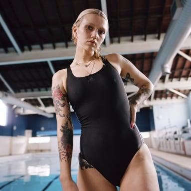 Maillot de bain Athly V 3-Stripes Noir Femmes Natation