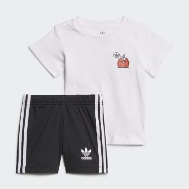 Completo adidas Originals x Kevin Lyons Shorts and Tee Bianco Bambini Originals
