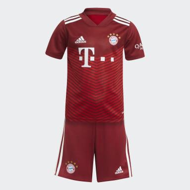 Ensemble bébés Domicile FC Bayern 21/22 Rouge Enfants Football