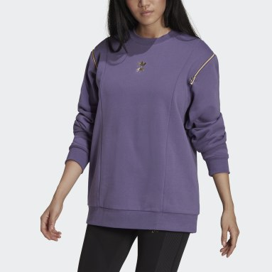 Women Originals Purple Crew Sweatshirt