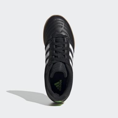Children Soccer Black Super Sala Shoes