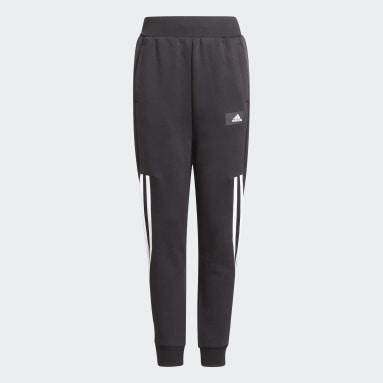 Kinder Sportswear Future Icons 3-Streifen Tapered-Leg Hose Schwarz
