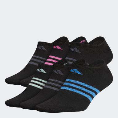Women Training Black Superlite No-Show Socks 6 Pairs
