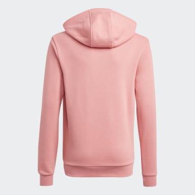 Kids Originals Pink Trefoil Hoodie