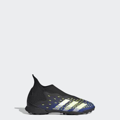 Zapatos de fútbol Predator Freak.3 Sin Cordones Pasto Sintético Negro Niño Fútbol