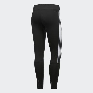 Women HIIT Black Running 3-Stripes Leggings