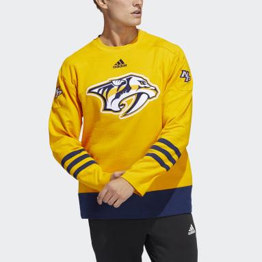 Men's Hockey Yellow Predators Crew Sweater