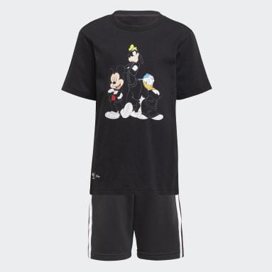 Conjunto camiseta y pantalón corto Disney Mickey and Friends Negro Niño Originals