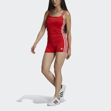 Women Originals Red Adicolor Classics Playsuit