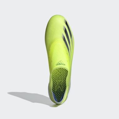 Calzado de Fútbol X Ghosted+ Terreno Firme Amarillo Hombre Fútbol