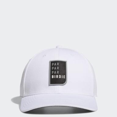 Herr Golf Vit Par Par Par Birdie Snapback Hat
