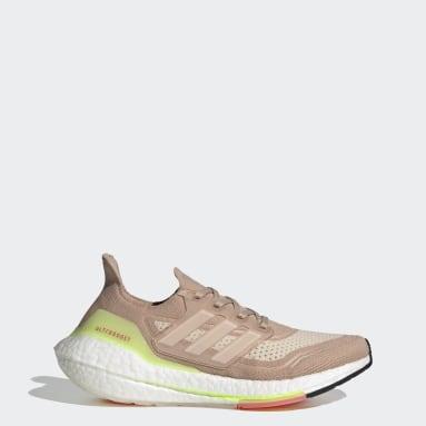 ผู้หญิง วิ่ง สีเบจ รองเท้า Ultraboost 21