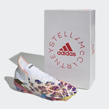 Men adidas by Stella McCartney White Predator Freak.1 Paul Pogba x Stella McCartney Firm Ground Boots