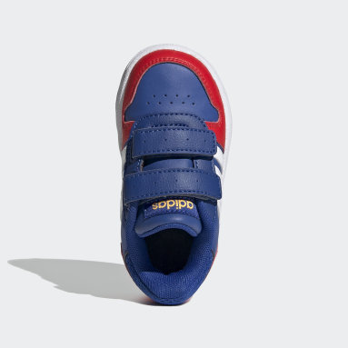 Děti Basketbal modrá Obuv Hoops 2.0