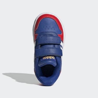 Zapatillas Hoops 2.0 Azul Niño Diseño Deportivo