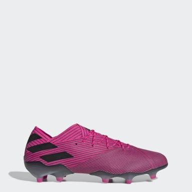 Bota de fútbol Nemeziz 19.1 césped natural seco Rosa Mujer Fútbol