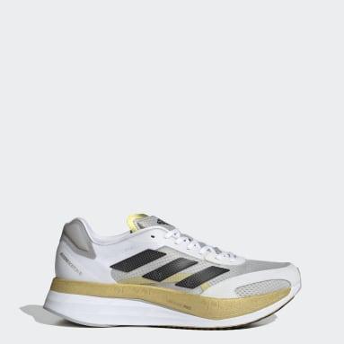 Men Running White Adizero Boston 10 TME Shoes
