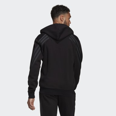 Muži Sportswear čierna Mikina skapucňou adidas Sportswear Future Icons Winterized Full-Zip