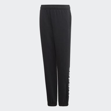 Pantaloni Essentials Linear Nero Ragazzo Sportswear