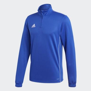 Men Gym & Training Blue Core 18 Training Top