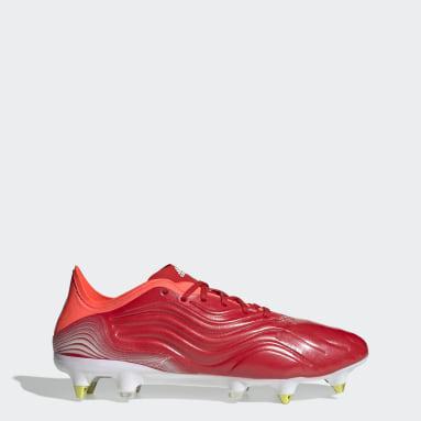 Futbal červená Kopačky Copa Sense.1 Soft Ground