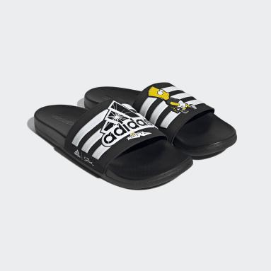 Sportswear Black The Simpsons Adilette Comfort Slides