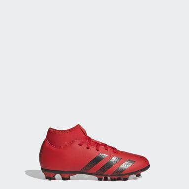 Calzado de fútbol Predator Freak.4 Multiterreno Rojo Niño Fútbol