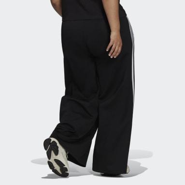 Γυναίκες Originals Μαύρο Relaxed Wide-Leg Primeblue Pants (Plus Size)