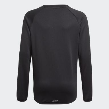 Boys Gym & Training Black adidas Designed To Move Big Logo Sweatshirt